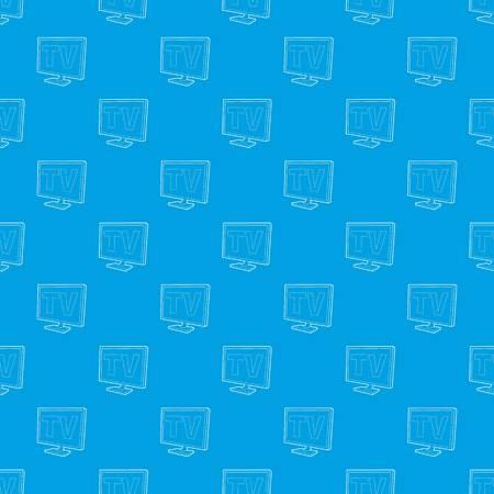 TV screen pattern vector seamless blue