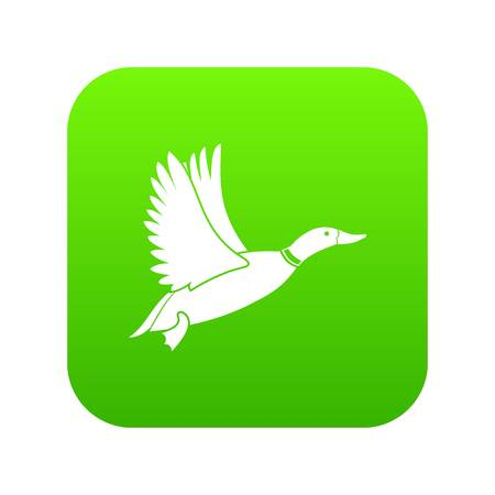 Duck icon digital green