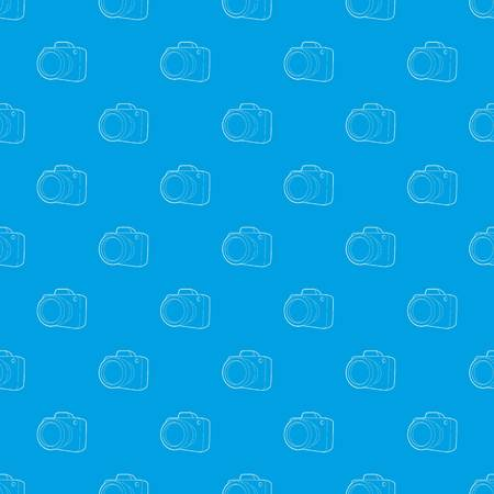 Camera pattern vector seamless blue