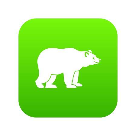 Bear icon digital green