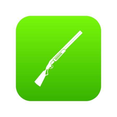 Gun icon digital green