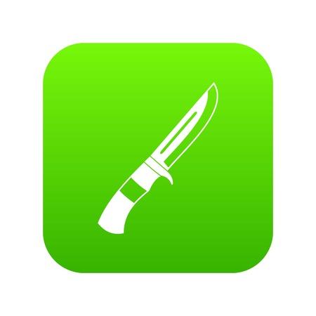 Knife icon digital green