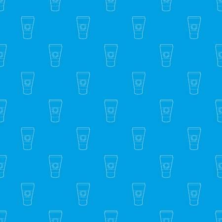 Tube with sunbathing cream pattern vector seamless blue Illustration