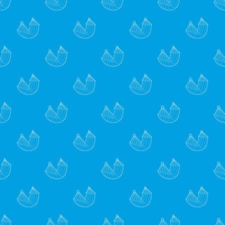 Hammock pattern vector seamless blue