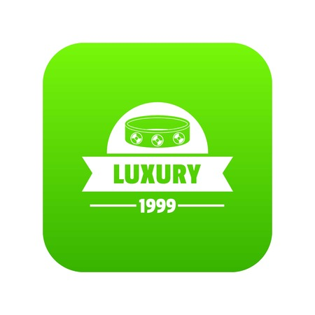 Luxury icon green vector