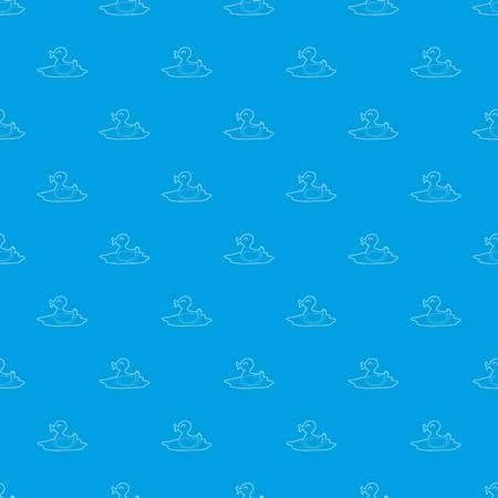 Duck pattern vector seamless blue Иллюстрация