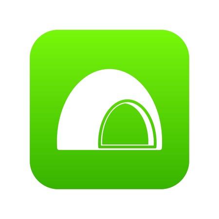 Souffle icon digital green Illustration