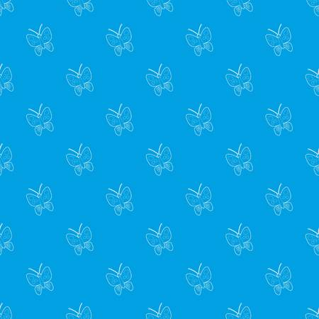 Butterfly pattern vector seamless blue