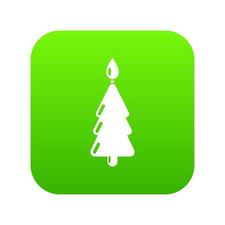 Candle christmas icon, simple black style
