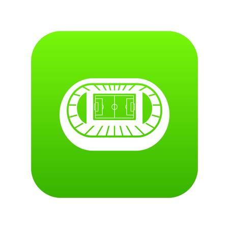Stadium top view icon digital green