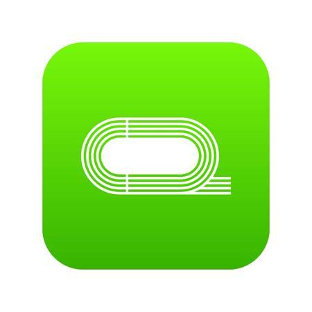 Athletic stadium icon digital green 矢量图像