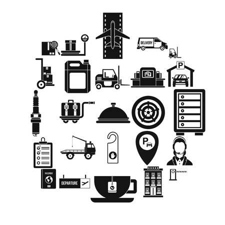 Loader icons set, simple style Illustration