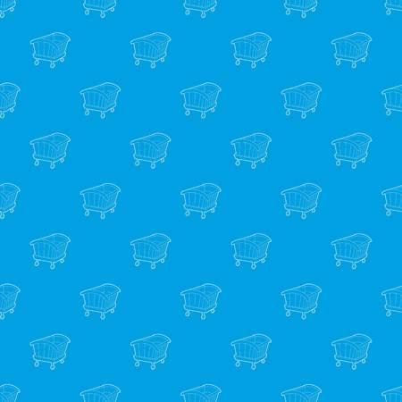 Cradle pattern vector seamless blue  イラスト・ベクター素材