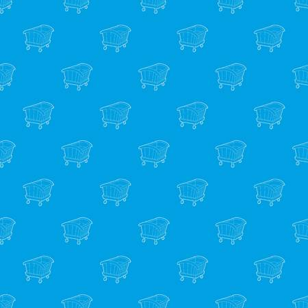 Cradle pattern vector seamless blue Vectores