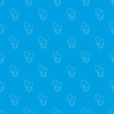 Baby pacifier pattern vector seamless blue Illustration