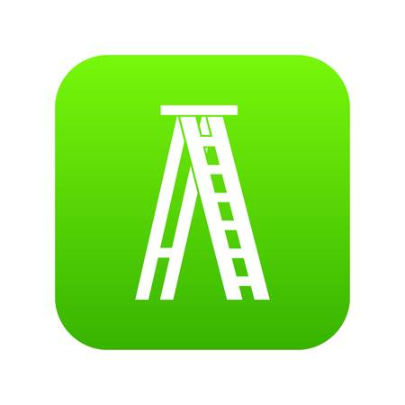 Stepladder icon digital green