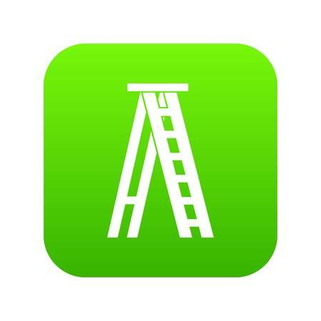 Stepladder icon digital green Illustration