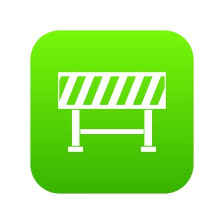 Traffic barrier icon digital green