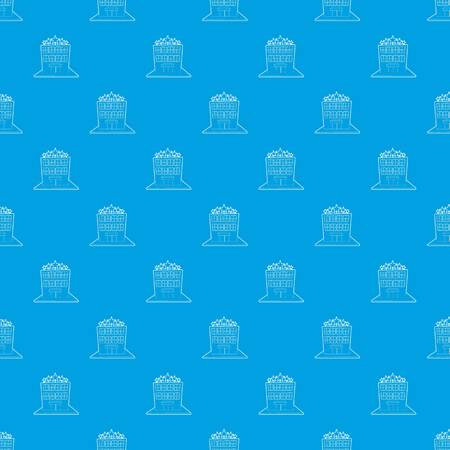 Hotel five stars pattern vector seamless blue Banque d'images - 102825680