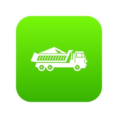 Dump track icon digital green