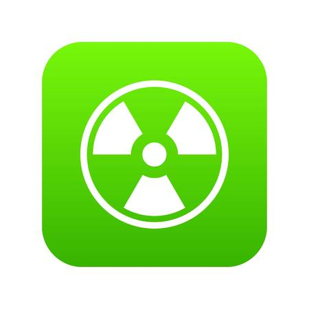 Danger nuclear icon digital green Illustration