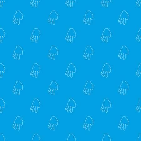 Three fingers pattern vector seamless blue