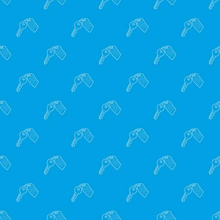 Room key at hotel pattern vector seamless blue