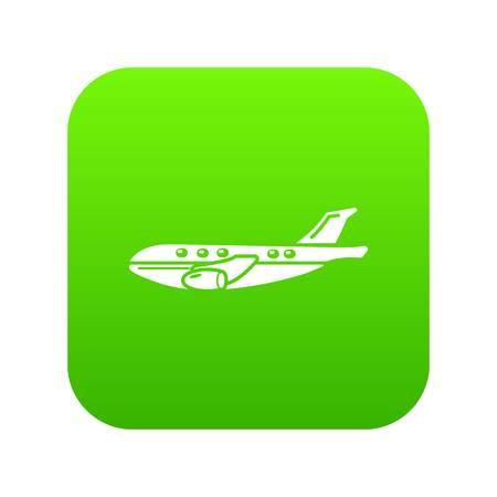 Passenger airplane icon, simple black style