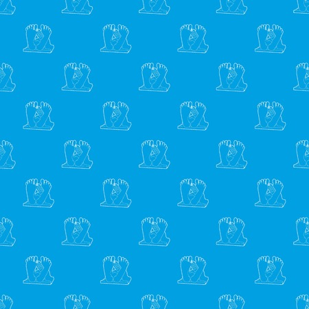 Dead body pattern vector seamless blue Illustration