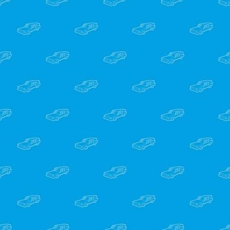 Hearse pattern vector seamless blue Illustration