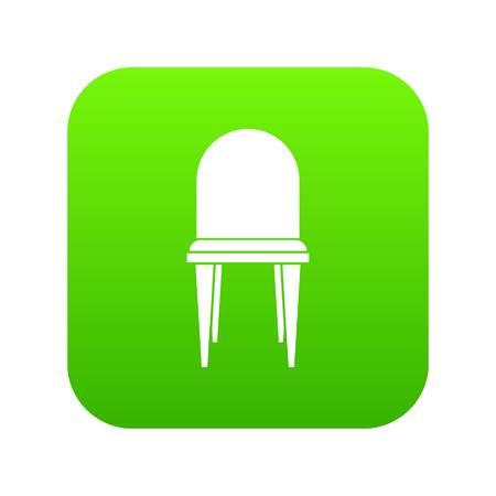 Chair icon digital green