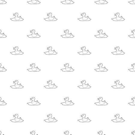 Duck pattern vector seamless