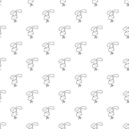 Sprout growing from seed pattern vector seamless