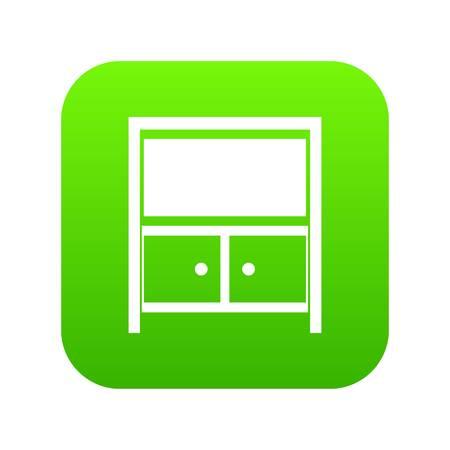 Vintage sideboard icon digital green Ilustração