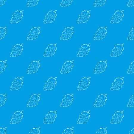 Grape pattern vector seamless blue
