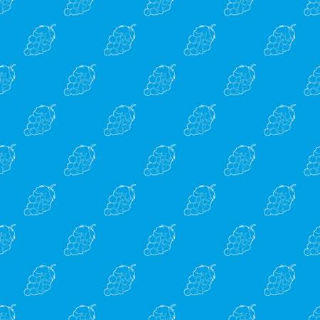 Grape pattern vector seamless blue