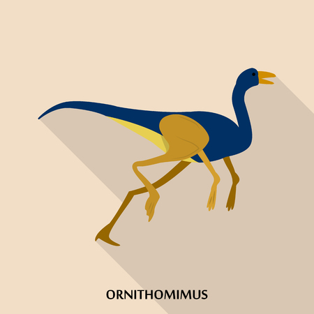 Ornithomimus icon, flat style