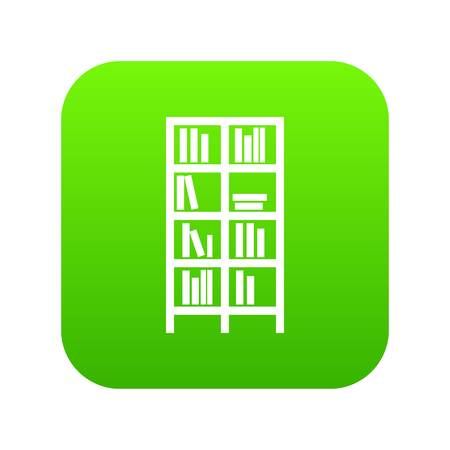icono de la carretilla digital verde