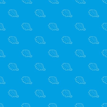 Big wing pattern vector seamless blue