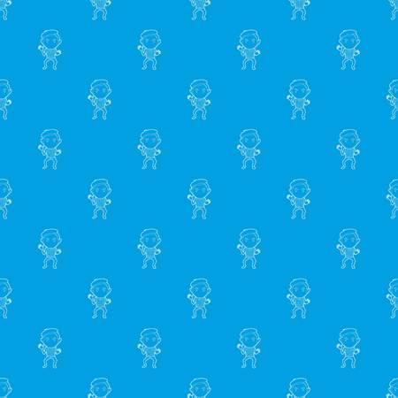 Clown pattern vector seamless blue Illustration