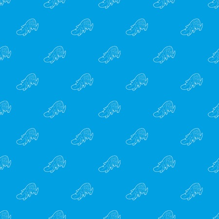 Angel wing pattern vector seamless blue