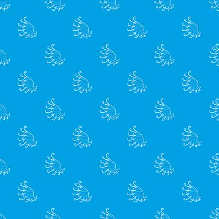 Wing pattern vector seamless blue