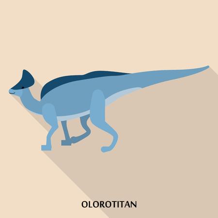 Olorotitan icon, flat style