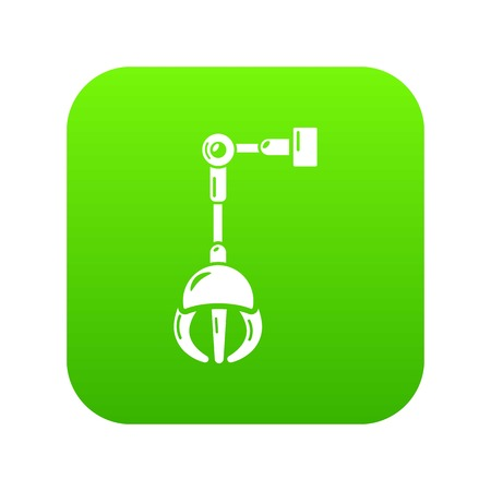 Mechanical grabber icon, simple style. Illustration