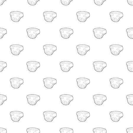 Baby diaper pattern vector seamless