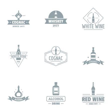 Logotipo de consumo de alcohol, estilo simple Logos