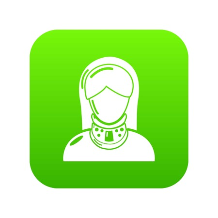 Cervical retainer icon, simple style.