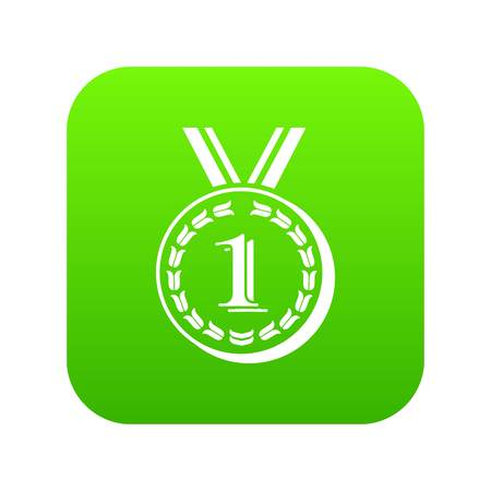 Medal icon, simple black style