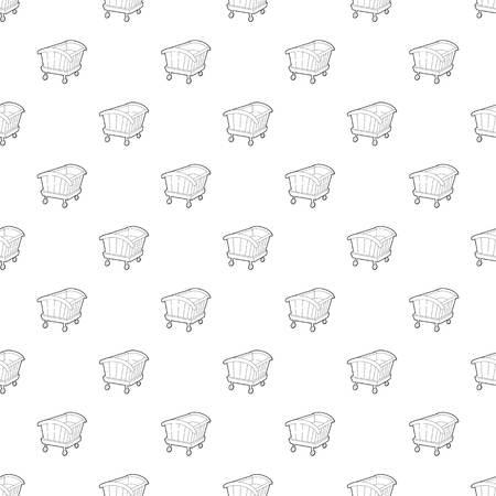 Cradle pattern vector seamless  イラスト・ベクター素材