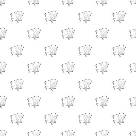 Cradle pattern vector seamless Vectores